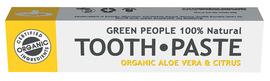 Tandpasta med økologisk aloe vera & citrus, 1 tube i æske